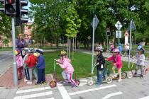 Předškoláci na dopravním hřišti