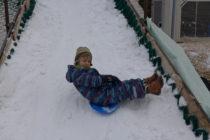 Zimní sporty u kluziště